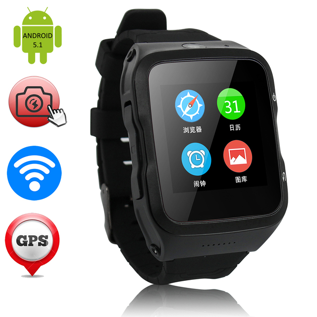 5-МП КАМЕРОЙ Smart Watch Мужчины Женщины Часы ZW34 GPS/WCDMA/Wi-Fi 3 Г Android 5.1 Наручные Часы Фитнес-Трекер Для iOS Android XIAOMI