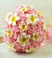 2016 Новый Невесты Свадьба Невеста букет Атласные Романтический Свадебный букет Цветок Brids