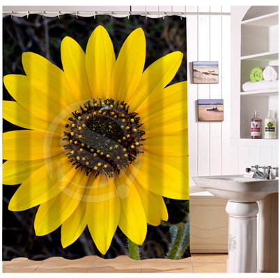 popular sunflower shower curtains buy cheap sunflower. Black Bedroom Furniture Sets. Home Design Ideas