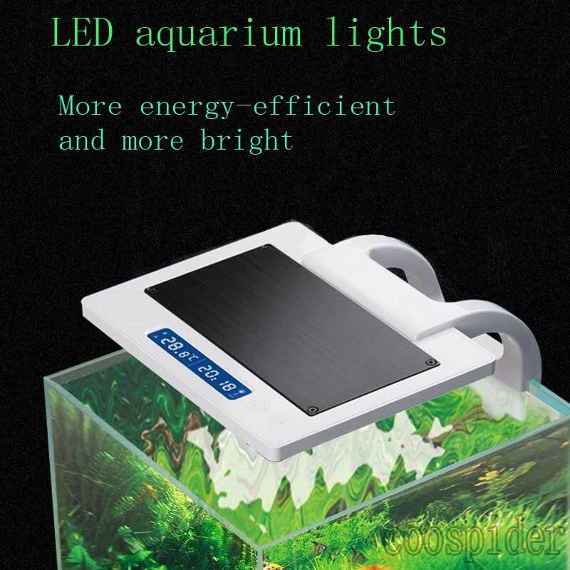 Éclairage LED pour Aquarium planté, 3 couleurs, 8w avec 2 températures LCD
