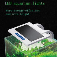 Multi Function Touch Switch Mini LED Lighting for Planted Aquarium, blue, purple, normal, 3 mode, 8w with 2 LCD temperature