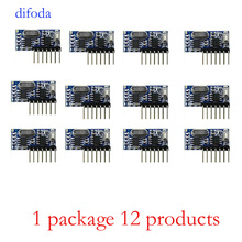 12Pcs 433Mhz Wireless Remote Control Switch 4CH RF Relay EV1527 Encoding Learning Module For Light Relay Receiver Diy Kit universal 315mhz rf relay receiver module learning code ev1527 315 mhz diy wireless remote control switch for garage door 5pcs