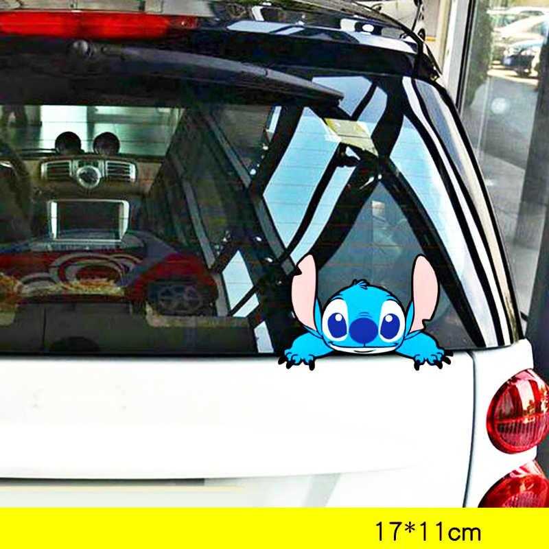 Volkays, accesorios para coche, adhesivo para cubrir arañazos con dibujos animados de Stitch, pegatina decorativa para bicicleta de motocicleta, nevera, Audi, Polo, Bmw X5