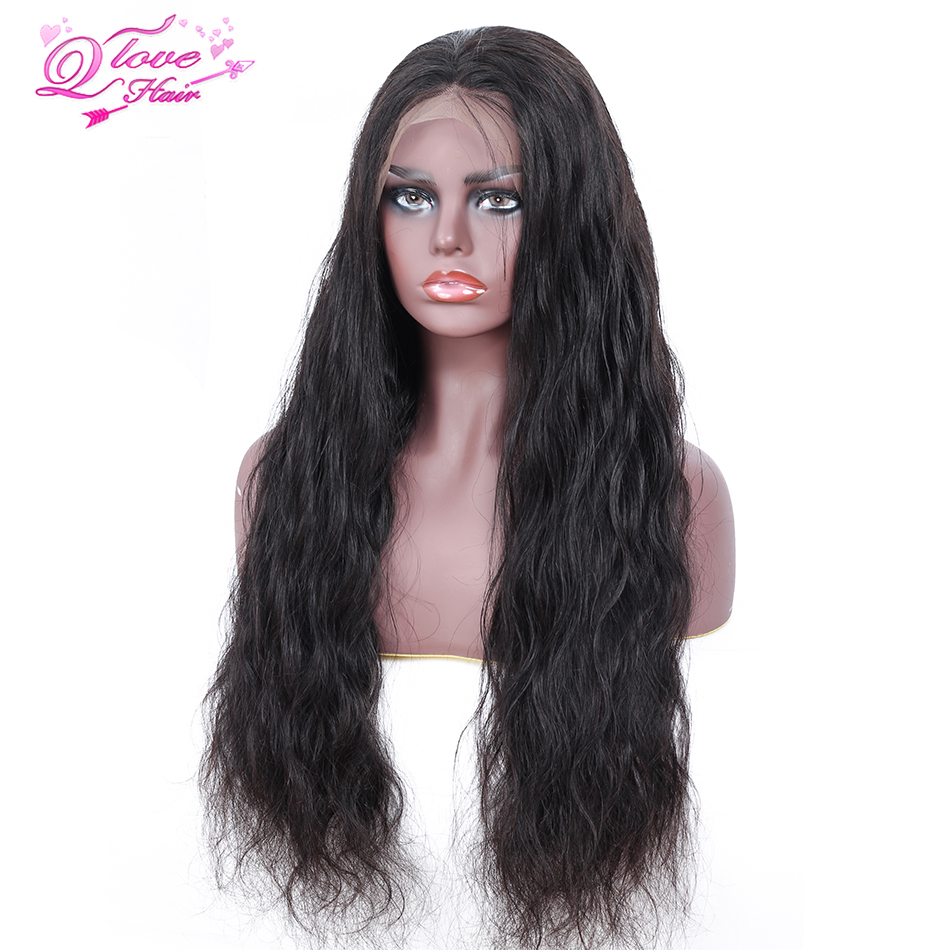 Queen Love Hair Peruvian Body Wave Lace Front 100 Human Hair Wigs Natural Color Remy Hair