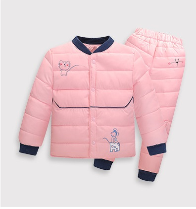 New children suit children liner two suit boy child baby warm clothes