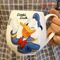 Mickey Minnie dos desenhos animados Xícara de Cerâmica Caneca de Leite Breakfirst Casais de Moda de Grande Capacidade 420 ml Criativo Escritório Xícara de Água de Café