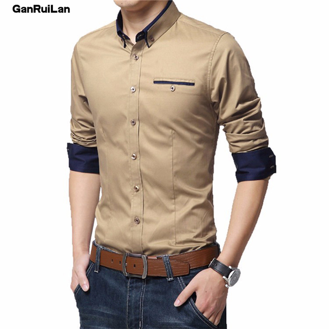 Men's Wedding 2018 Shirt Long Sleeve Men Dress Shirt Business Solid Color Casual Shirts Work Wear Formal Slim Shirt Man CY18001 4