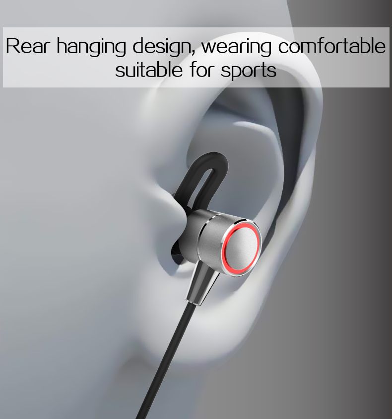 Metal Magnetic Wireless Bluetooth Earphones Sport In-Ear HiFi Bass Headset With Mic Earbuds For iPhone Samsung Android phone