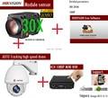 ONVIF 2.0 megapixel Com Zoom de 30X com limpador IR 150 M Auto Tracking PTZ 1080 P de Alta velocidade da abóbada câmera IP 4CH 1080 P MINI-NVR Kits