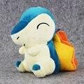 1 pcs 18 cm Cyndaquil pelúcia pingente boneca de brinquedo de pelúcia com otário