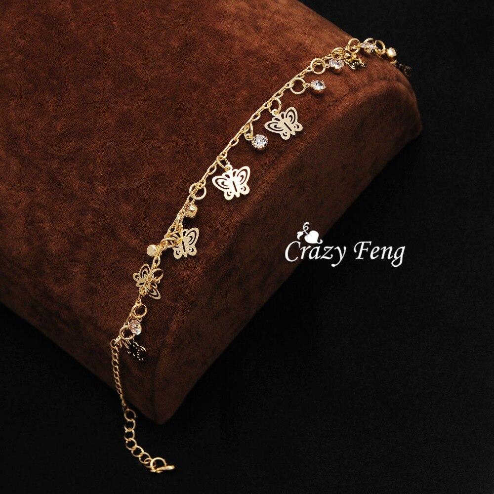 Nouveau Design de mode or-couleur papillon forme bracelets pour femme main chaîne bijoux cadeau livraison directe - 6
