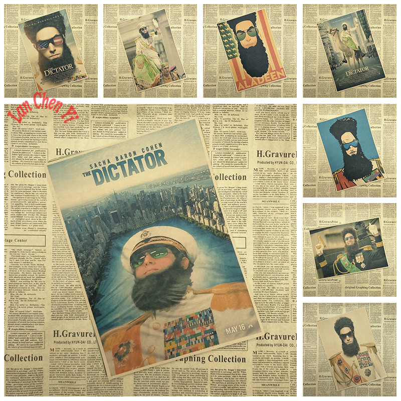 Comedy film The Dictator Matte Kraft Paper Poster Office Gift Room Dining Home Decor wall sticker Design