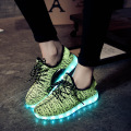 26-37 Size/2016 USB Charging Basket Led Children Shoes With Light Up Kids Casual Boys&Girls Luminous Sneakers Glowing Shoe