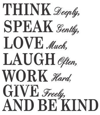 ThinkSpeakLove English QuoteWall ArtVinyl Wall Decals 6060W X60 Best English Quotes