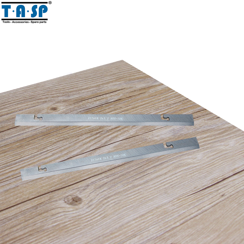 TASP 257mm HSS Thickness Planer Blade 257x18.2x3.2mm Wood Planer Knife For MacAllister COD1500PT