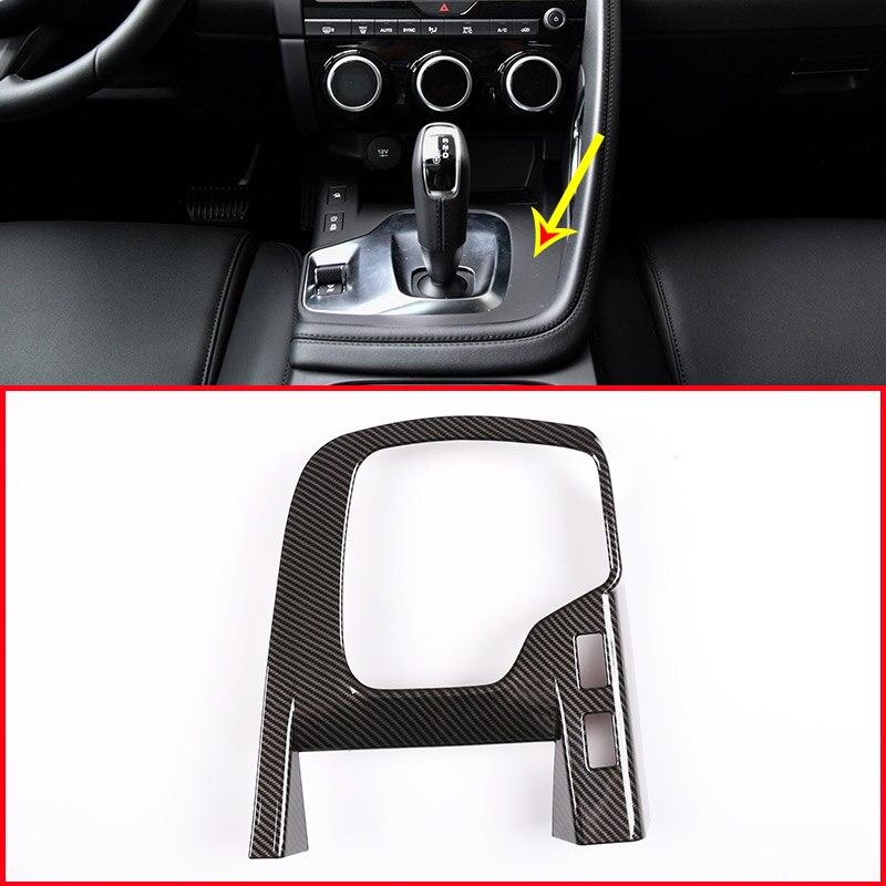 Carbon For Jaguar E-PACE E PACE 2018 2019 ABS Car Interior Center Console Gear Shift Decoration Frame Trim Accessories Parts