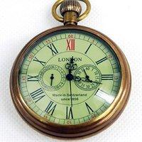 Londen 1856's Antieke 5 Handen Mechanische Zakhorloge-in Zakken & Zakhorloges van Horloges op