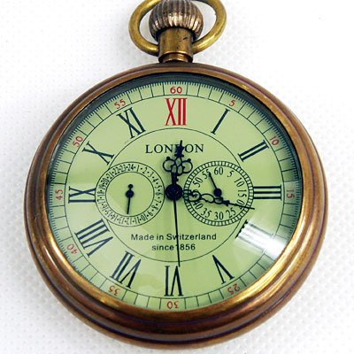 London 1856's Antique 5 Hands Mechanical Pocket Watch rare archaize 5 hands mechanical pure brass pocket watch freeship