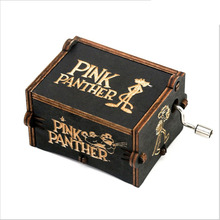 Game of Thrones Wood Music Box Pink Panther Antique Carved Wooden Hand Crank Music Boxs Birthday Gift antique carved wood star wars game of thrones music box hand crank theme music welcome to sell friends cooperation