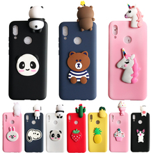 Huawei Y6 2019 case 3D Panda Bear Unicorn Soft Silicone Cover Back For Prime Y 6 MRD-LX1 6.09 coque