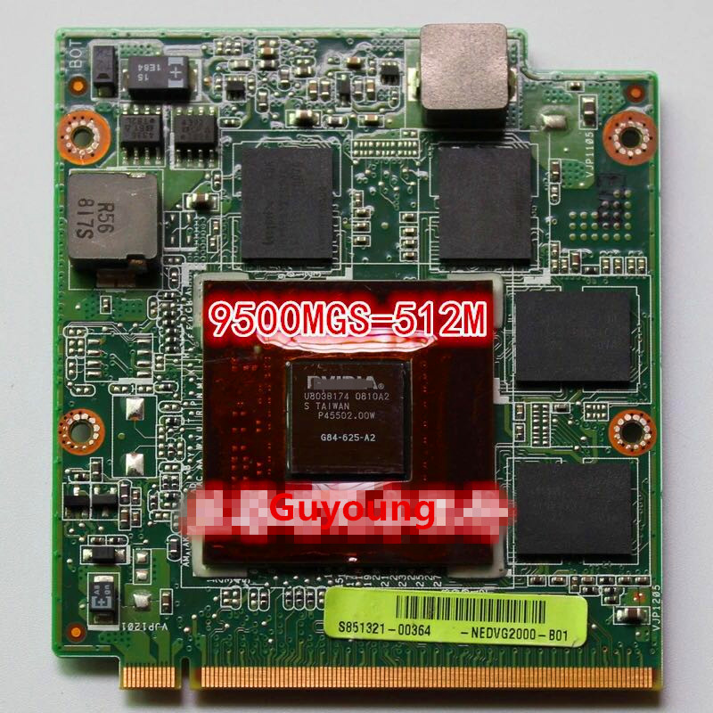 9500M GS 9500MGS 512MB G84-625-A2 VGA Video Card For ASUS F8S M50S PRO57S X55S X57S V1S VX2S F8Sn
