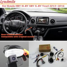 цена на Lyudmila Back Up Reverse Camera For Honda HRV H-RV XRV X-RV Vezel 2013~2016 - Car Rear View Camera Sets RCA & Original Screen
