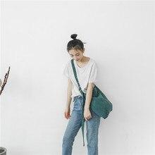 Corduroy canvas bag college wind womens singles shoulder oblique cross-use cloth strap adjustable female
