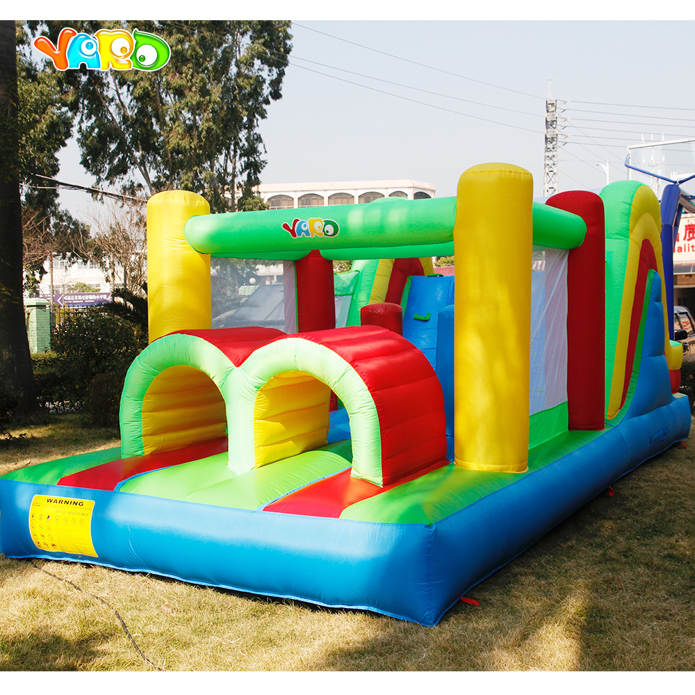 Inflatable Bounce House Obstacle Course Double Slides 6 4x2 8x2 5m Inflatable Bouncy Castle Funny Trampoline