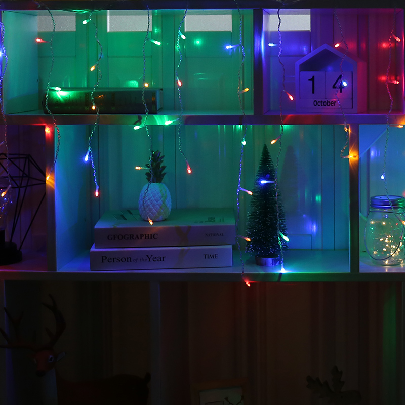 Cheap String Lights Indoor: LED Icicle String Light Indoor LED Garland Curtain Lights