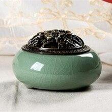 Vintage Longquan kiln stick incienso titular sándalo aromaterapia horno para Decoración de mesa cerámica aromaterapia