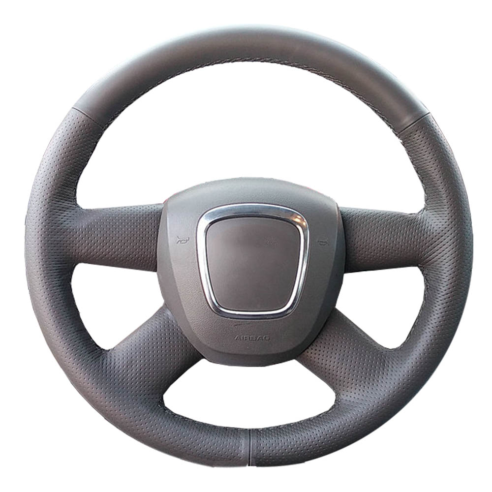 Genuine Leather car steering wheel Cover for Audi Old A4 B7 B8 A6 C6 2004-2011 Q5 2008-2012 Q7 2005-2011/ Steering-Wheel Braid игрушка motormax audi q5 73385