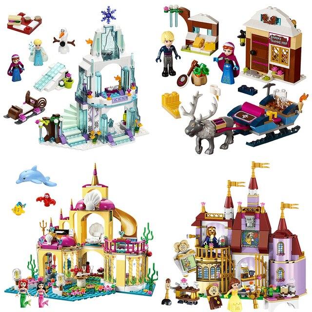 Amis série glace château ensemble éducatif bloc de construction briques ensemble jouets pour filles Compatible Lepining filles cadeau