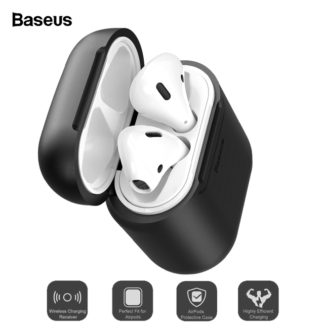 Baseus Qi Wireless Charging Case For Airpods Anti-Knock Silicone Protective Cover For Airpod Air pods Coque With Wired Charging