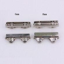 8 шт./лот раздвижные 6/8 мм стеклянный дверной ролик Стекло раздвижные двери Роликовый зажим приводной ремённой шкив