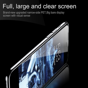 Image 3 - Baseus 3D Tempered Glass For iPhone 8 7 6 6S Plus Screen Protector 0.23mm Soft Edge PET Full Cover Thoughened Film For iPhone8
