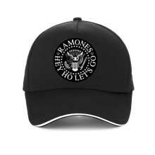 Ramones Logo print Baseball Cap Vintage Punk Rock cap Unisex adjustable Snapback hat 100%Cotton bone gorras ramones