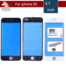 For iPhone 6S Touch Screen Digitizer Lens Front glass LCD panel with frame bezel for iphone6S LCD External GLASS Replacement цена в Москве и Питере