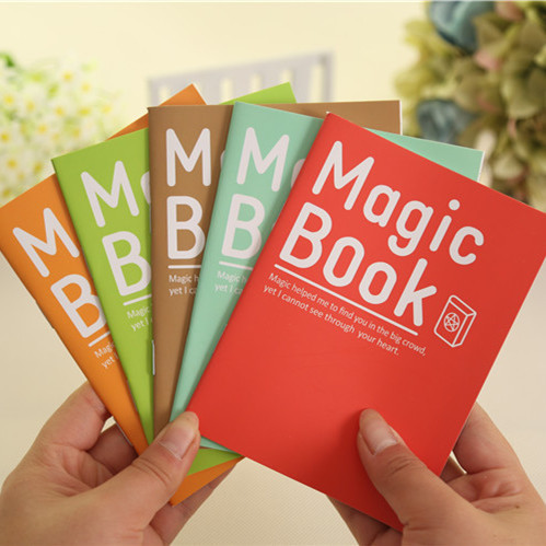 2017 1Pcs Time-limited Rushed Planner Magista Wholesales Free Shipping 14*10.5cm Lovely 6 Colors Magic Book Notebook K6730