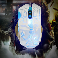 Professional USB Wired Gaming Mouse Mice 5500 DPI Adjustable Ergonomic Design With 7 Button Led Backlit