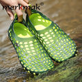 Merkmak 2016 Mens Sandals Breathable Summer Soft Flats Driving Chaussure Homme Fretwork Water Fishing Shoes Zapatos Masculino