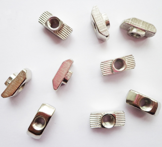 50pcs 40 Series Aluminum European Hammer HeadDrop In M3/M4/M5/M6/M8 T Nut Slot(EU40)