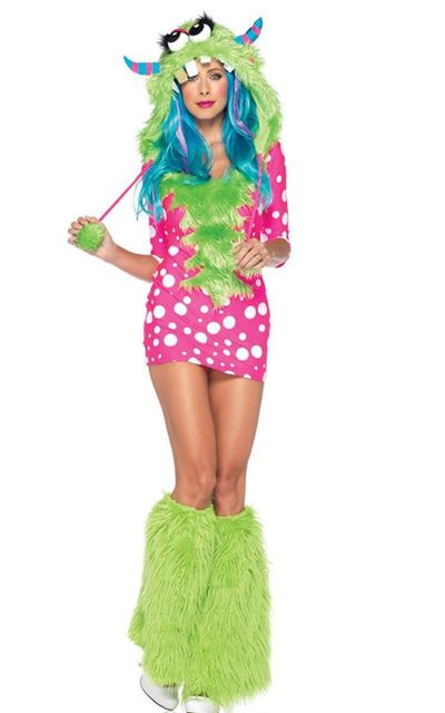 Halloween Sexy Monster Costume Adult Animal Costume 3S1147 Gorgeous 2 pcs Melody Monster Dotted Dress Costume  sc 1 st  AliExpress.com & Halloween Sexy Monster Costume Adult Animal Costume 3S1147 Gorgeous ...