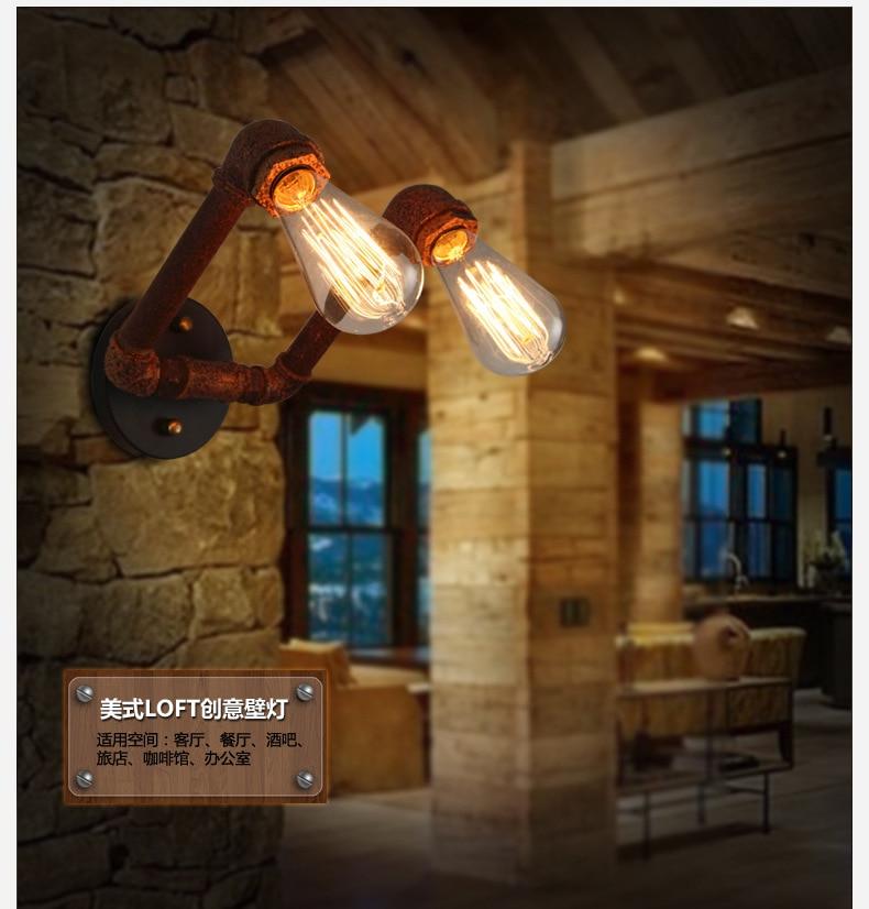 antigas, lâmpada de parede dupla e ferro