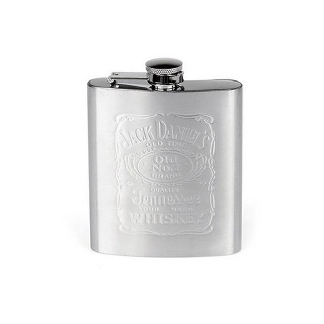 Bear Knight metal hip flasks portable flagon stainless steel gifts travel silver whiskey alcohol liquor bottle Male Mini Bottles