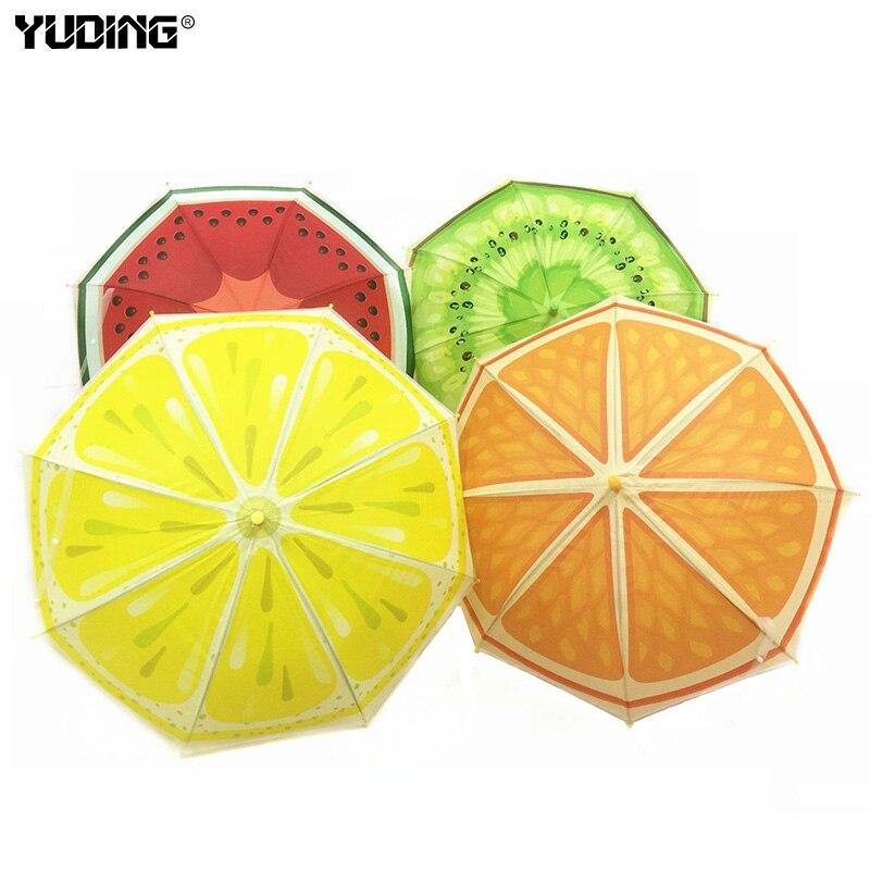 Children Umbrella Cute Fruit Design Creative Long-handled Manually Kids Umbrella