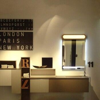 Новинка скандинавский простой деревянный светодиодный настенный светильник для дома, ванной комнаты, зеркала, осветительный прибор для фо...