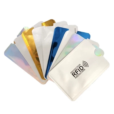 10pcs Anti - Theft Brush Bank Card Set ID Card Cover Anti - Leakage Security Foil Card Set