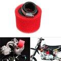 Sistemas de Filtros De 50mm Filtro De Ar MAIS LIMPO Para Moto Peças Motos Acessórios Espuma Vermelha & Alumínio & rubber