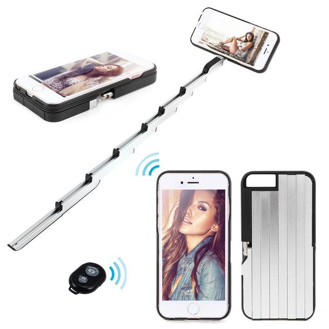 cheap for discount cf29d 3e8fd US $29.49 |Selfie Stick Phone Case Cover Remote Bluetooth Wireless Camera  Shutter Monopod For iPhone 6/6S Black Pink on Aliexpress.com | Alibaba Group