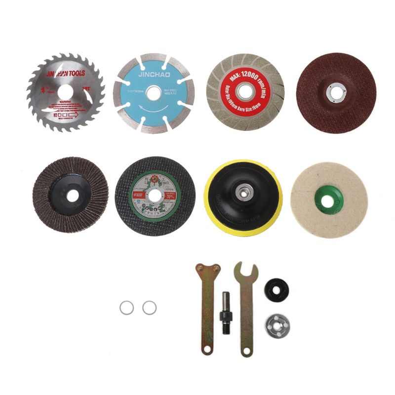 11Pcs/Set Glass Cutting Piece Wood Saw Blade Connecting Rod For Electric Drill Angle Grinder Cutter Grinding Tool Accessories